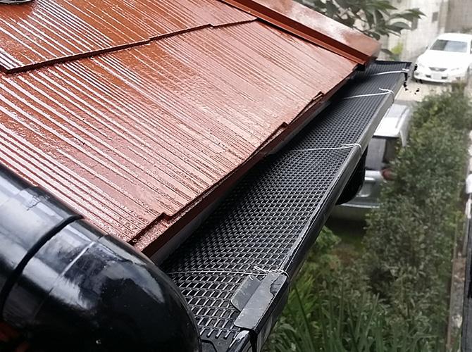 雨樋の落ち葉除けネット