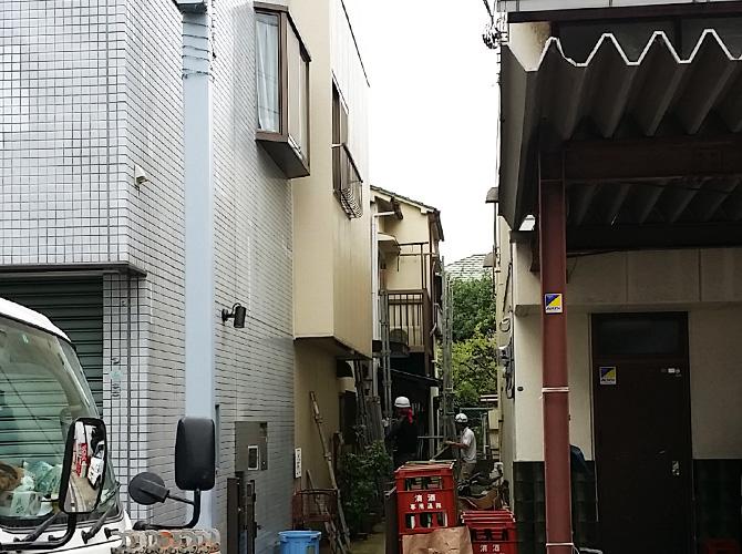 千葉県船橋市の外壁塗装・屋根塗装工事の施工前