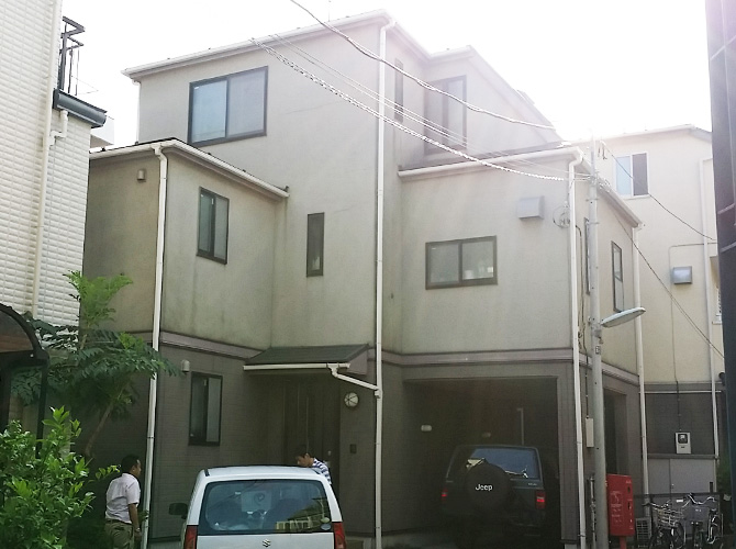 東京都品川区の外壁塗装・屋根塗装工事の施工前