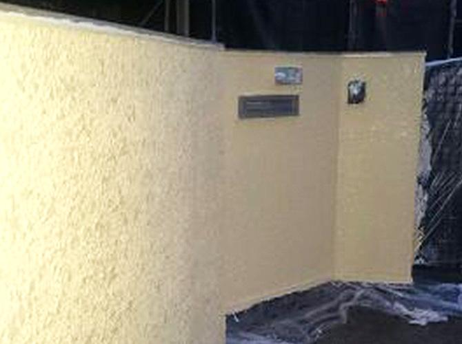 外壁の塗り替え完了後のようすです。