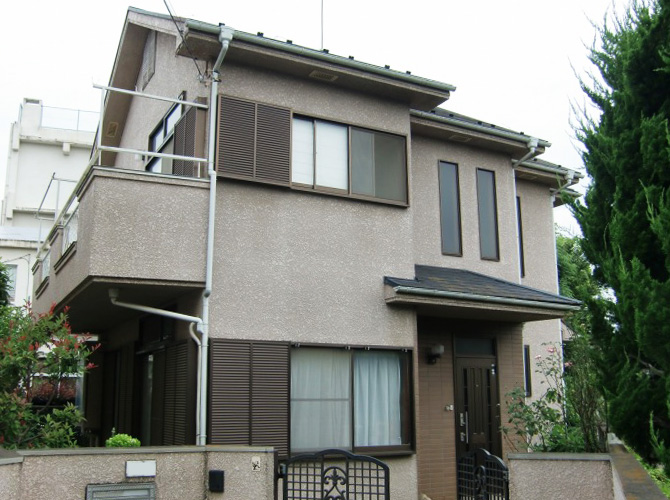 東京都立川市の外壁塗装・屋根塗装工事の施工前