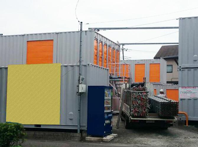 埼玉県越谷市コンテナの塗装工事の施工後