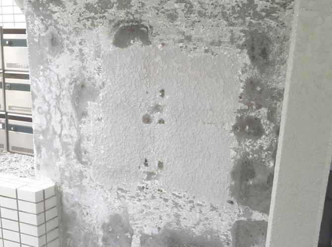 東京都羽村市アパートの部分塗装工事の施工前