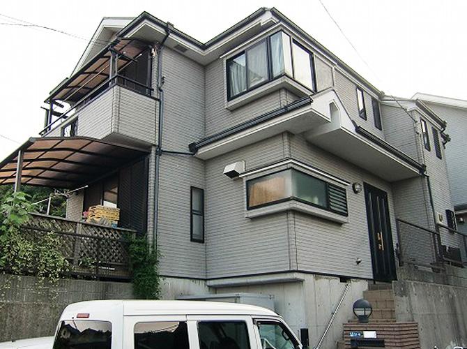 神奈川県横浜市の外壁塗装・屋根塗装工事の施工前
