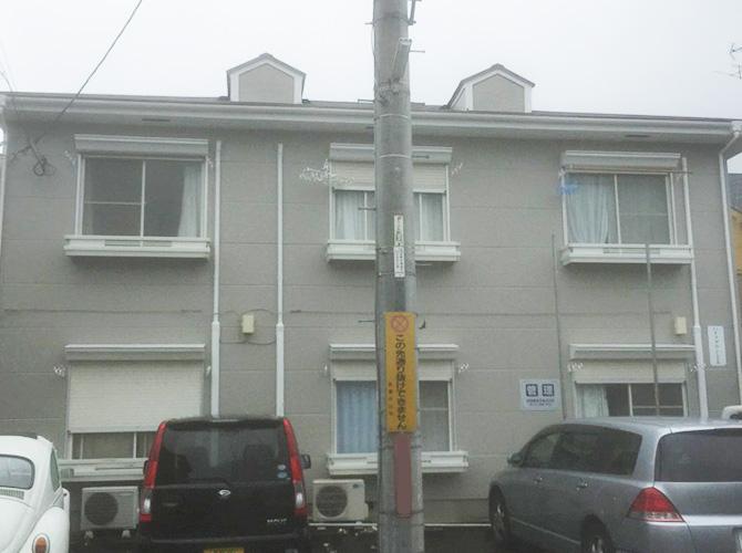 東京都武蔵村山市アパートの外壁塗装工事の施工後