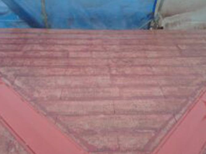 屋根塗装の施工後です。