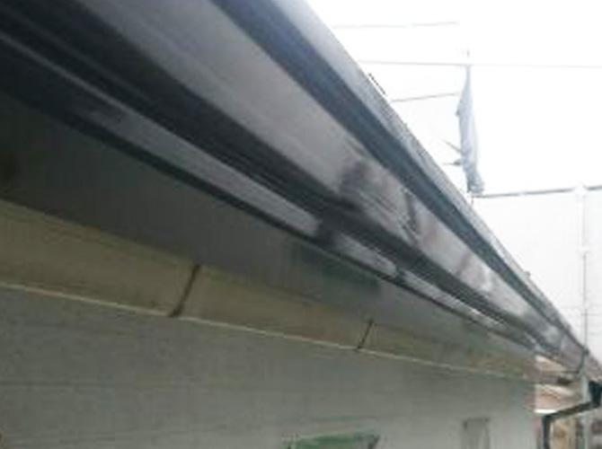 雨樋塗装の施工完了後のようすです。