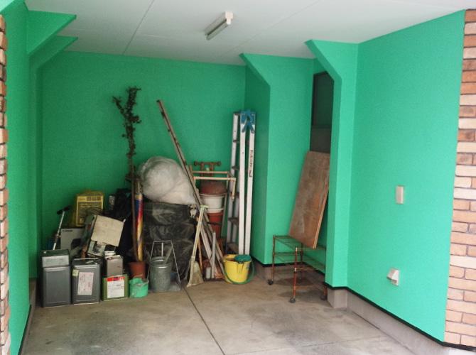 塗装工事の施工完了後のようすです。