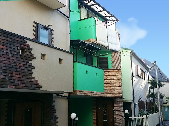 東京都板橋区の外壁塗装・屋根塗装工事の施工後