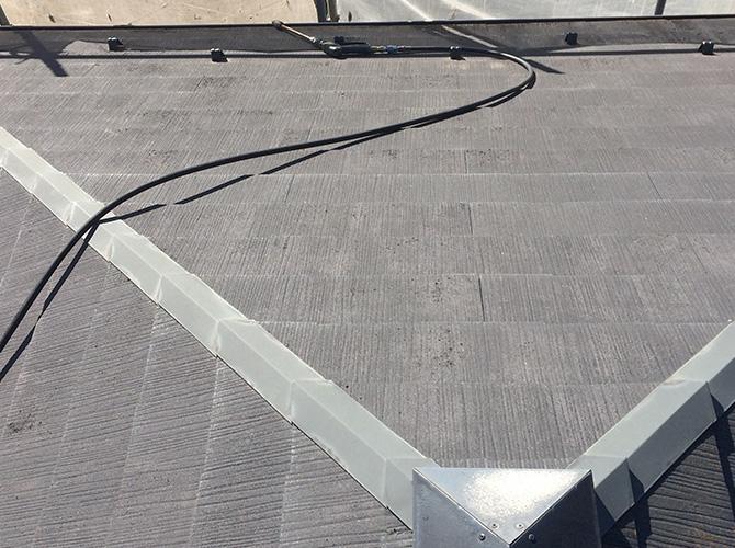 屋根の高圧洗浄の施工後です。