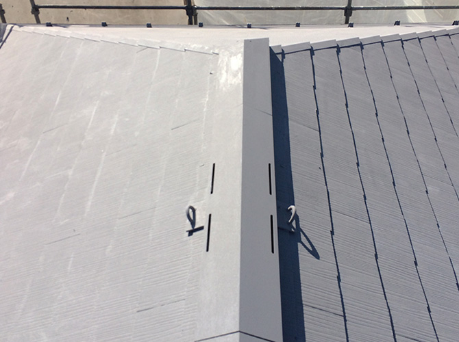 ガイナの中塗り施工完了後です。