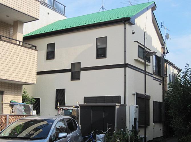 ガイナ塗装後の建物外観のようす。