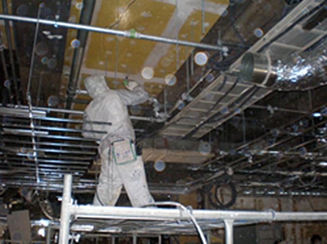 ガイナ(GAINA)で内装を塗装した中央区銀座の施工前