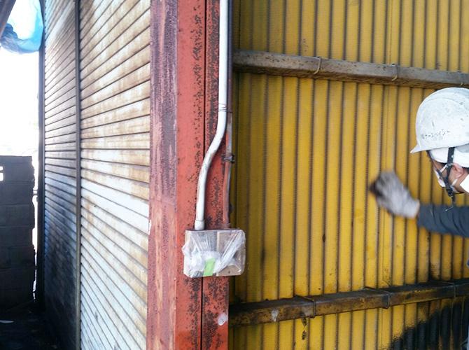 茨城県水戸市工場の外壁塗装・鉄部塗装工事の施工前