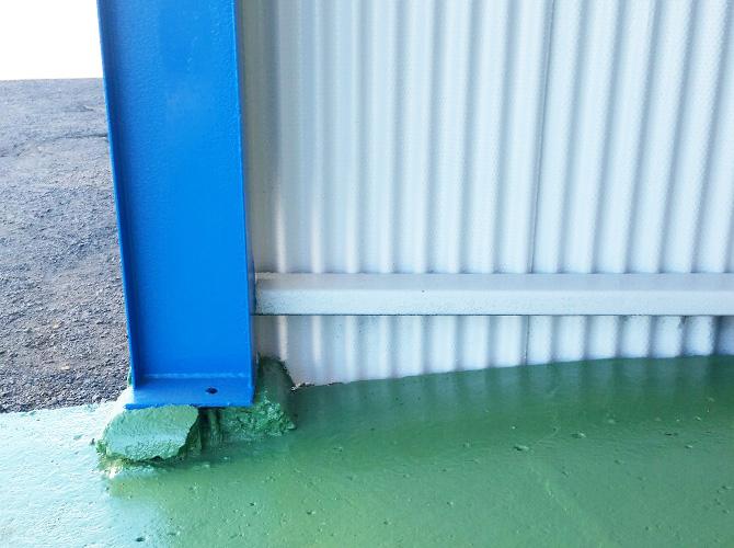 茨城県水戸市工場の外壁塗装・鉄部塗装工事の施工後