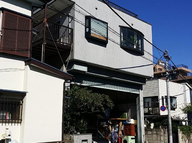 埼玉県戸田市の外壁塗装・屋上防水工事の施工前