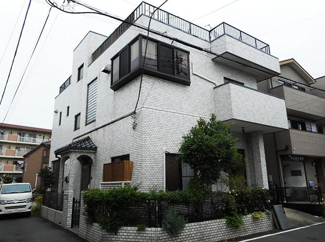 埼玉県草加市の外壁塗装・屋上防水工事の施工前
