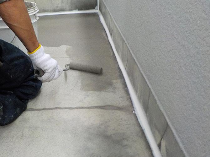 床部分の下地調整中のようすです。