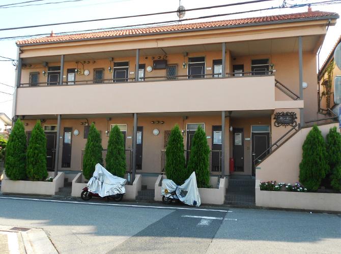 東京都足立区アパートの外壁塗装・共用部改修工事の施工前