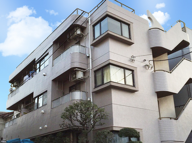 東京都練馬区マンションの外壁洗浄・シール補修工事の施工後