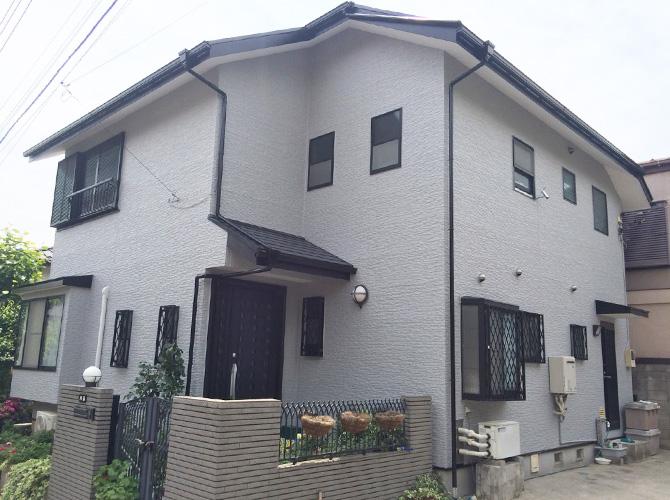 横浜市保土ヶ谷区のナノコンポジットWの外壁塗装施工事例