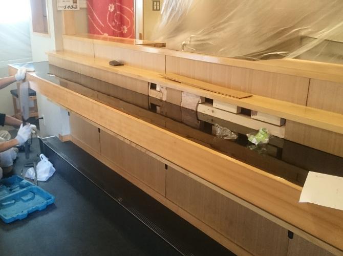 東京都新宿区寿司屋の内装塗装工事の施工前