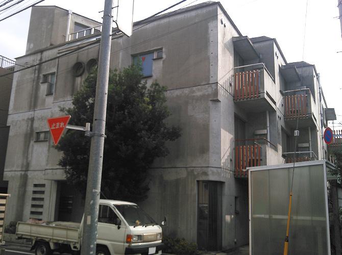 東京都世田谷区マンションの外壁塗装工事の施工前