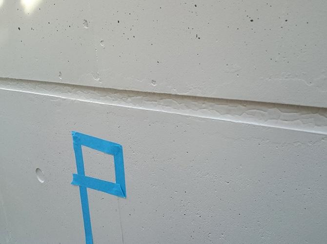 外壁目地のコーキング補修前です。