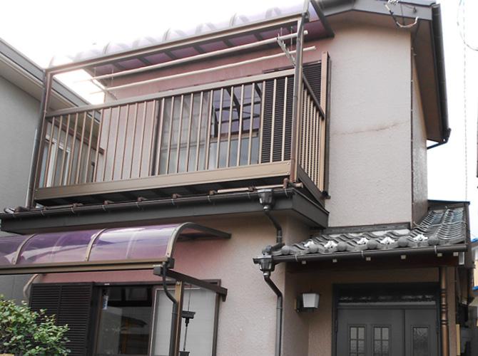 埼玉県草加市の外壁塗装・付帯部塗装工事の施工前