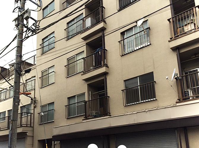 """東京都足立区マンションの外壁塗装工事の施工前"""""""