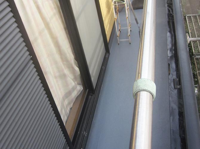 バルコニーの防水工事施工完了後です。