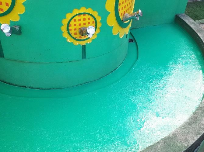 神奈川県横浜市幼稚園の手洗い場塗装工事の施工後