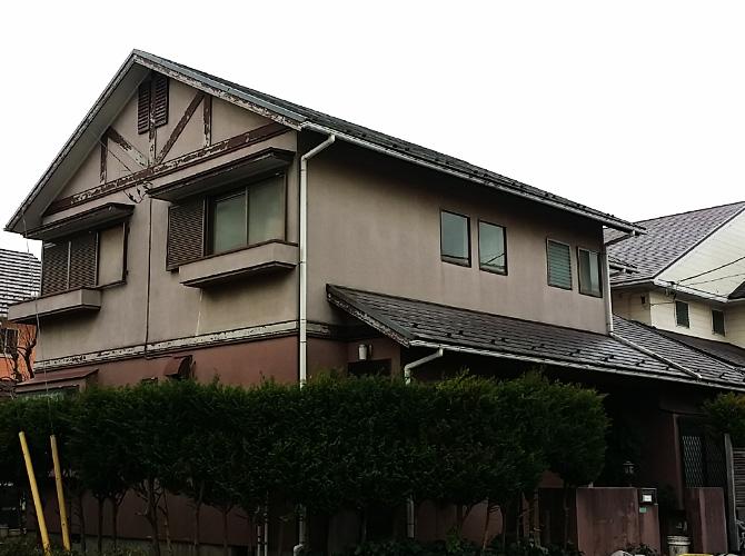 千葉県印西市の外壁塗装・屋根塗装工事の施工前