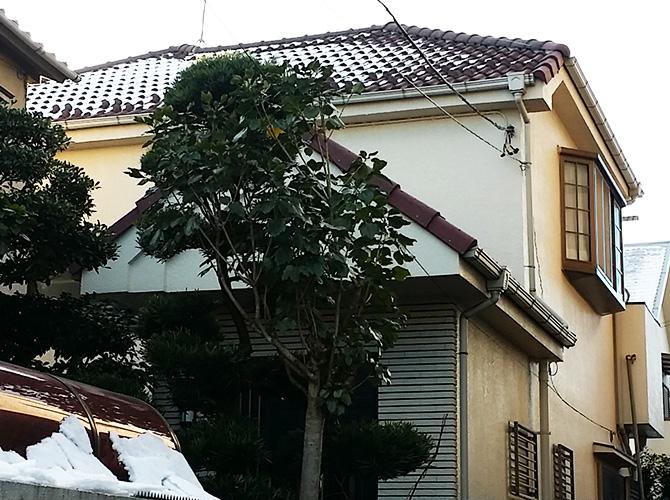 東京都足立区西保木間の外壁塗装・屋根葺き替え工事の施工前