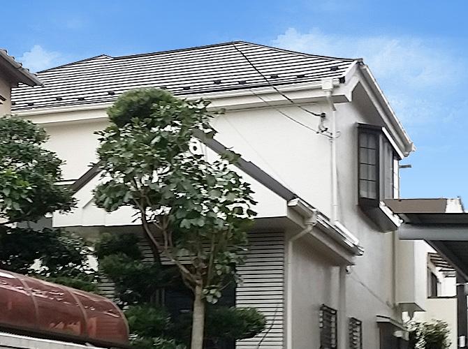 東京都足立区西保木間の外壁塗装・屋根葺き替え工事の施工後