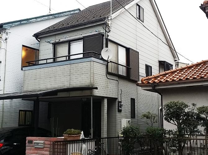 東京都足立区西保木間の外壁塗装・屋根塗装工事の施工前
