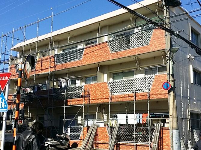 東京都大田区マンションの外壁塗装・修繕工事の施工前