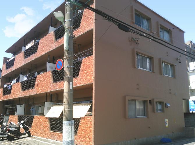 東京都大田区マンションの外壁塗装・修繕工事の施工後
