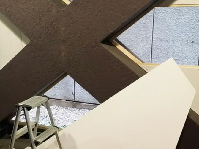 東京都北区店舗の内装塗装工事の施工前