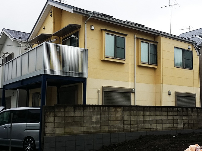 東京都江戸川区の外壁塗装・屋根塗装工事の施工前