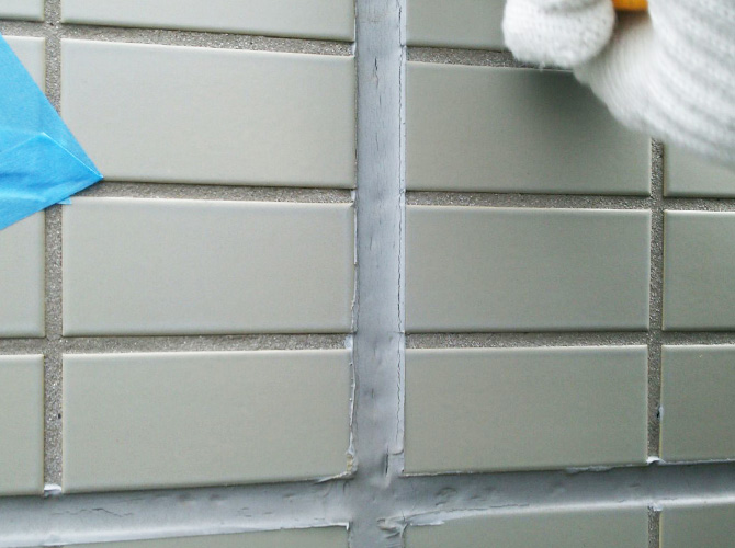 東京都江東区ビルの外壁シーリング工事の施工前