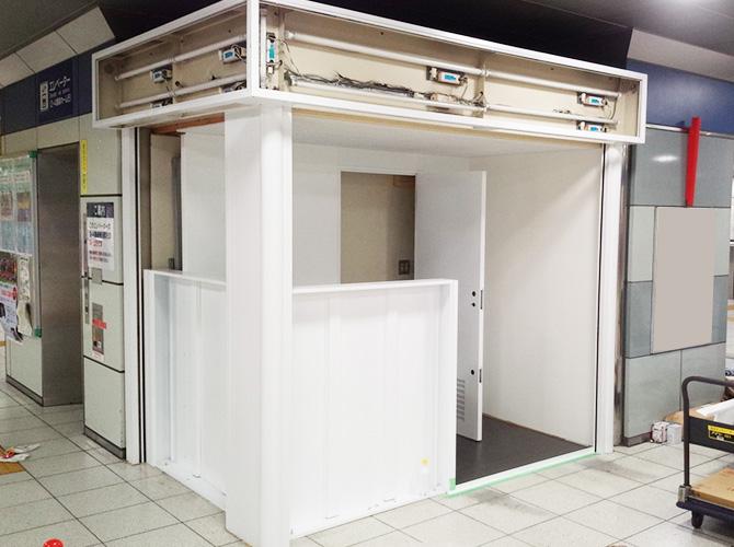 埼玉県越谷市駅構内の鉄部塗装工事の施工後