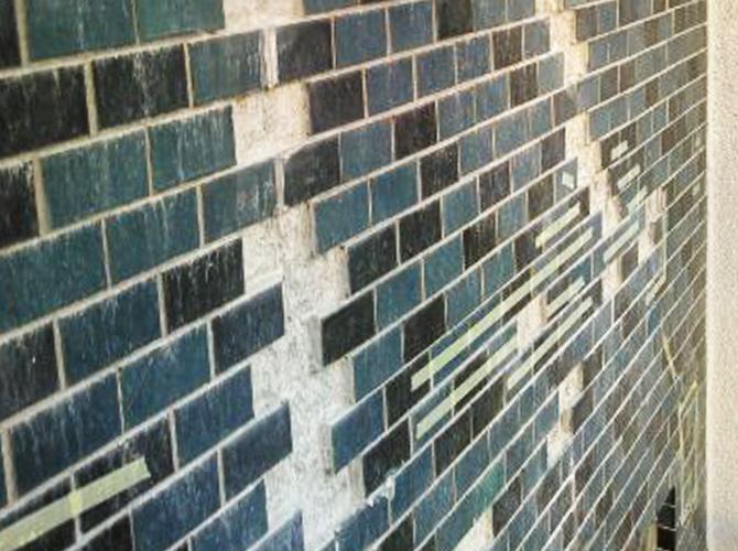 東京都渋谷区ビルの外壁タイル補修工事の施工前