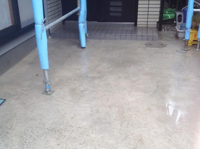 床部分の高圧洗浄の施工後です。