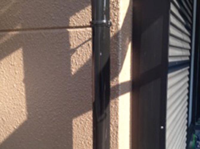 雨樋の塗装完了後です。