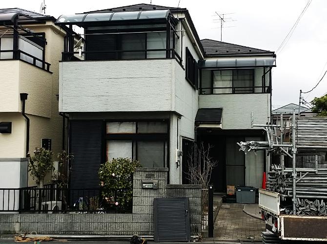 東京都足立区谷在家の外壁塗装・屋根塗装工事の施工前