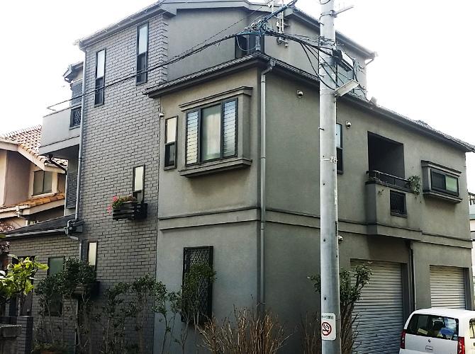 東京都足立区綾瀬の外壁塗装・屋根塗装工事の施工前
