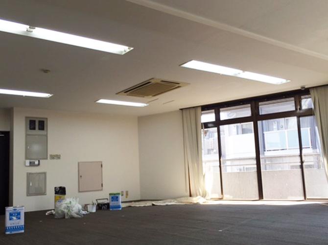 東京都大田区ビル内装塗装工事の施工後