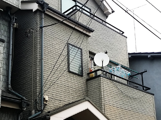 東京都足立区千住の外壁塗装・屋根塗装工事の施工前