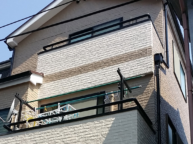 東京都足立区千住の外壁塗装・屋根塗装工事の施工後